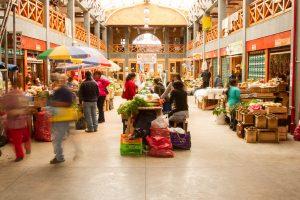 Bustling market, Ancud