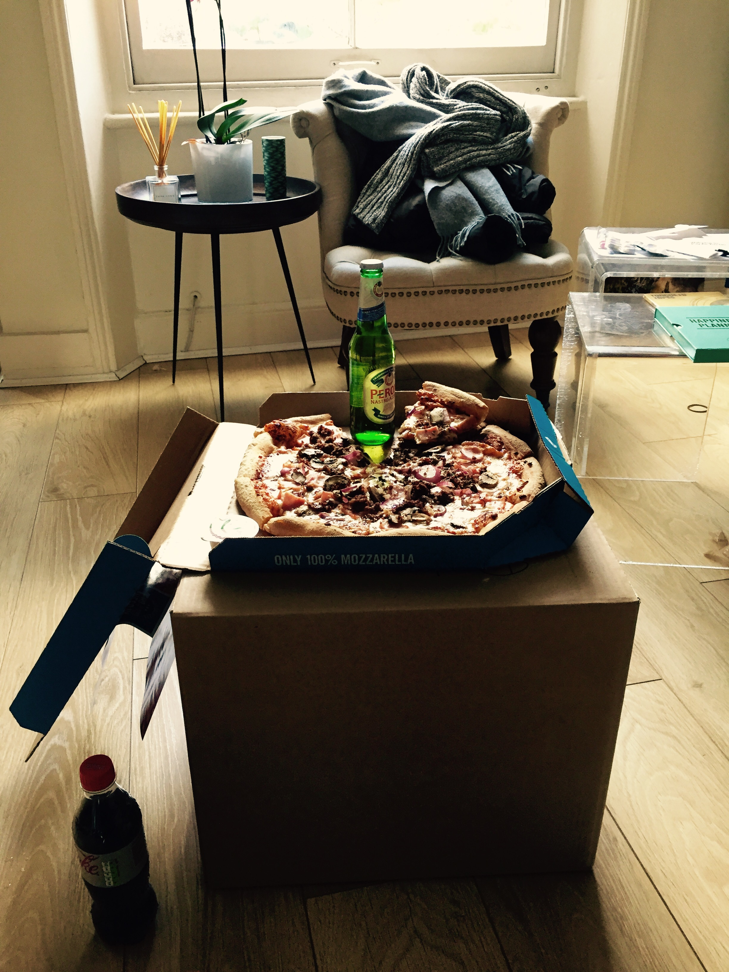 pizza and packing