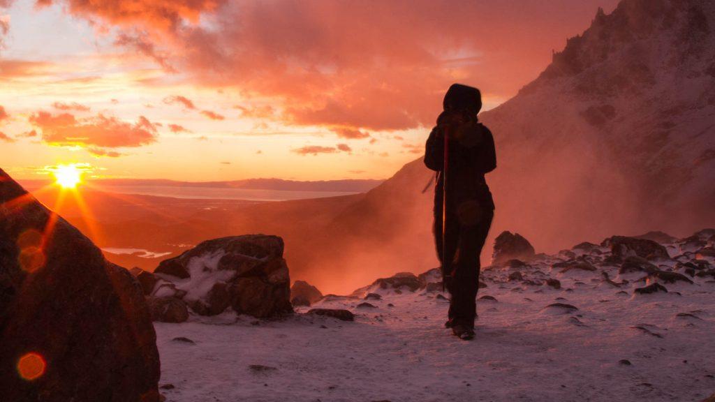 'Summit' ridge at dawn. WINDY