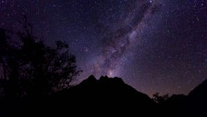 Night sky in the Andes