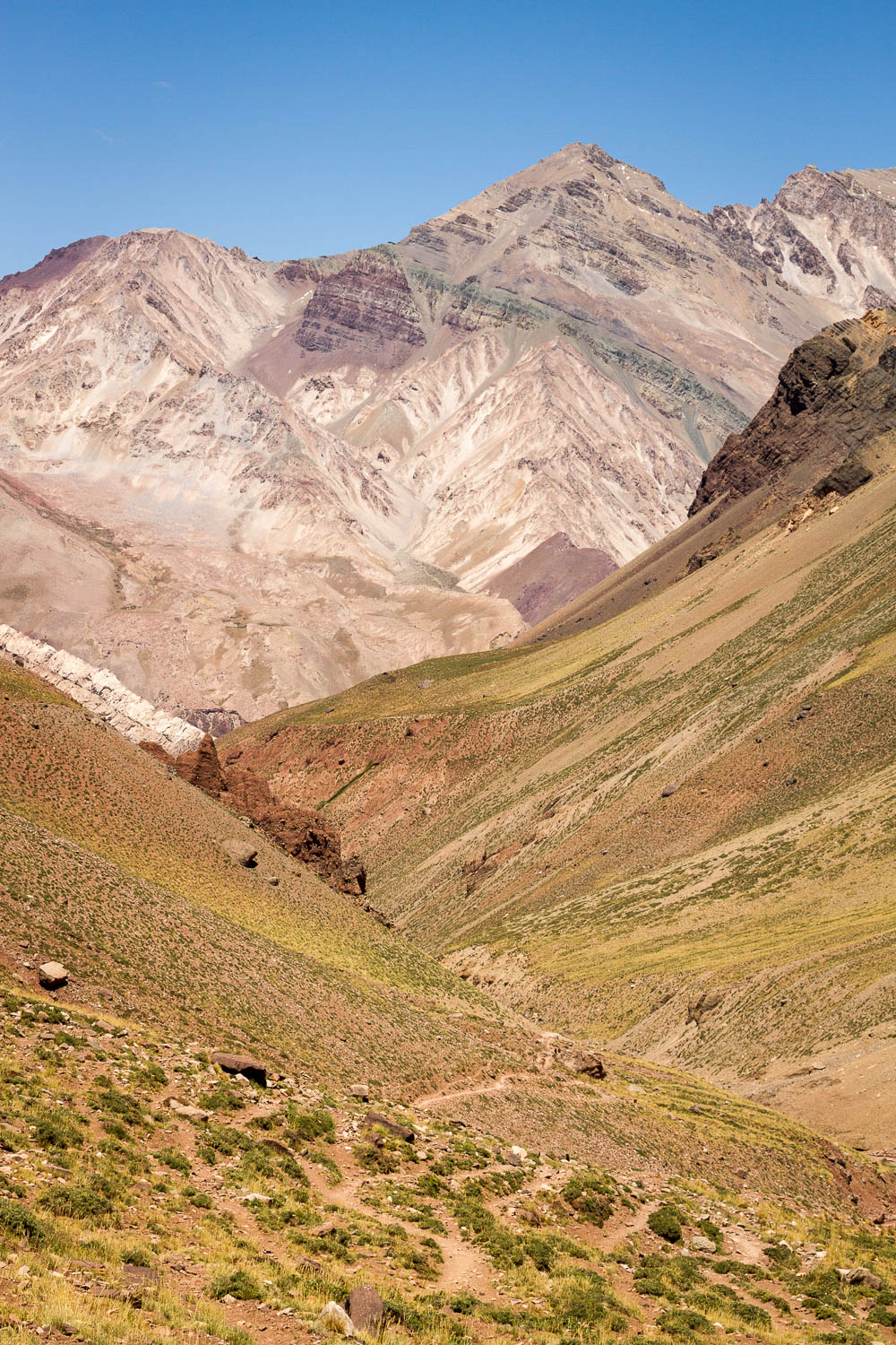 View of the Andes from Aconcagua base camp