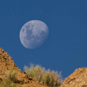 Moon rises over El Leoncito national park